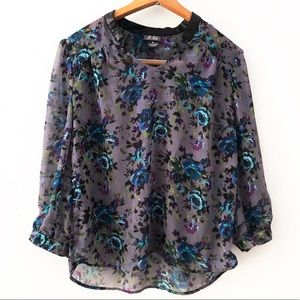 [Dots] Floral Sheer Medium Top